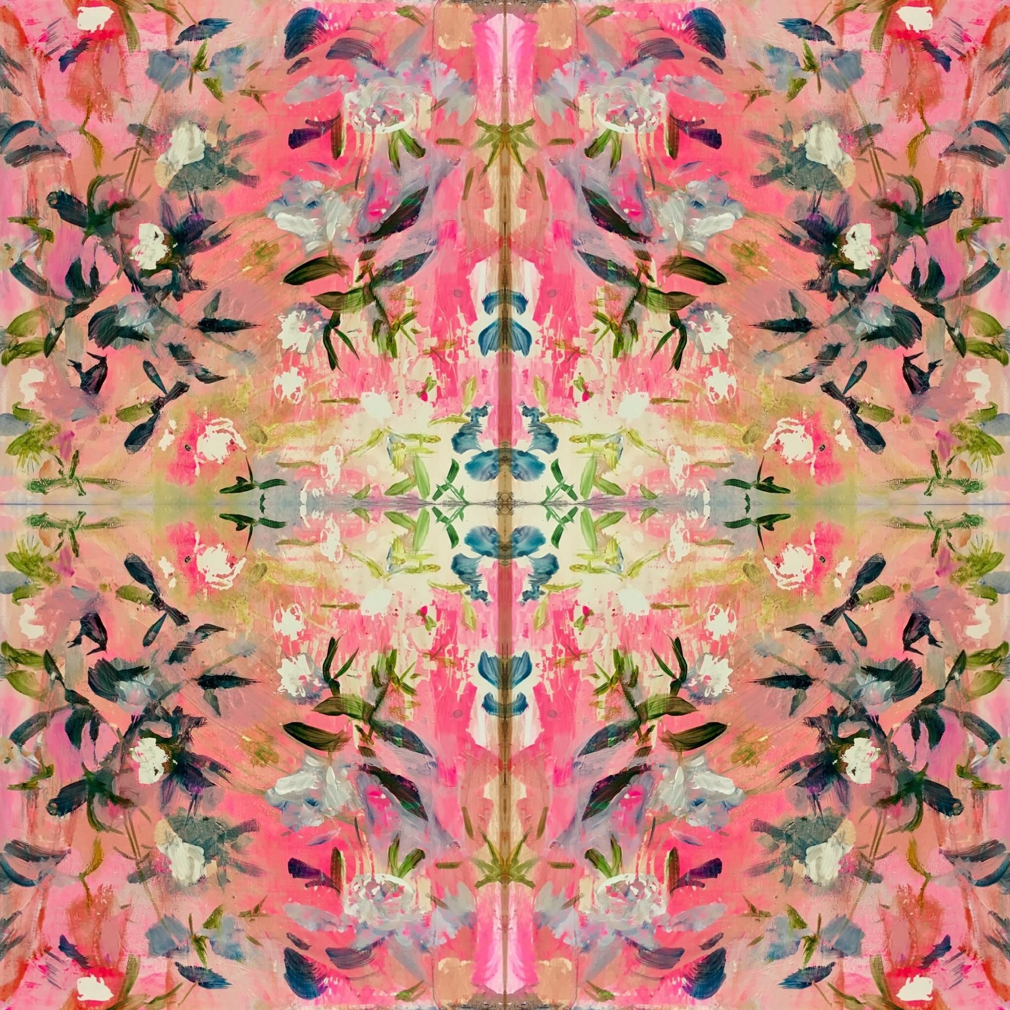floral pattern repeat textile wallpaper houzz dwell elle decor