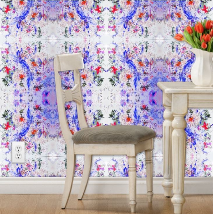 floral wallpaper design interior elle decor pattern textile houzz architecture digest dwell luxe colorado artist art
