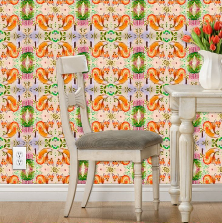 fox animal wallpaper houzz dwell luxe elle decor better homes architecture digest