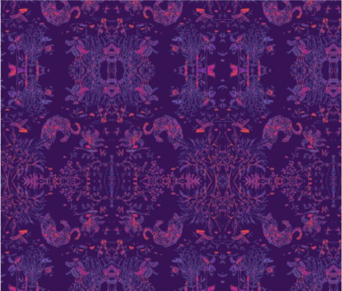 ocelot animal nature wallpaper textile home decor interior design purple johnny defeo home houzz