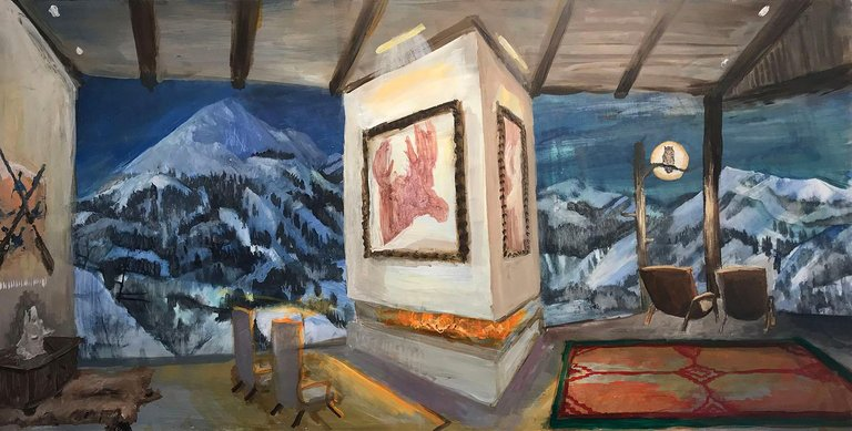 Johnny DeFeo Ski Chalet painting department of the interior