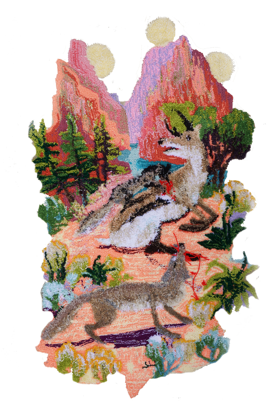 Johnny Defeo zion national park tapestry art rug